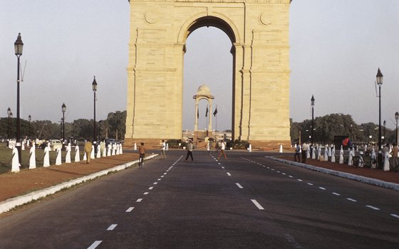 The India Gate is a memorial to the country's World War I casualties.
