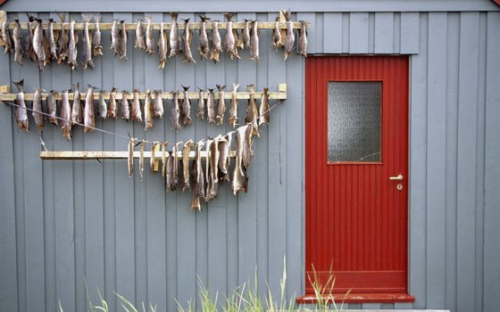 Fish is dried naturally in the fresh air in Norway.