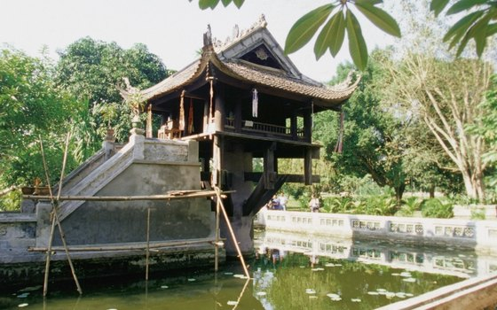 Visit the One-Pillar Pagoda, a 1049-era wooden temple on stilts over water in the Ba Dinh District.