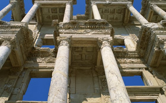 Greco-Roman ruins greet cruisers who disembark at Ephesus, Turkey.