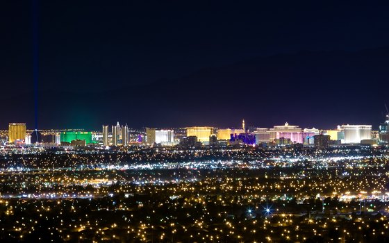 Las Vegas Boulevard -- the Strip -- is a stunning nighttime panorama.