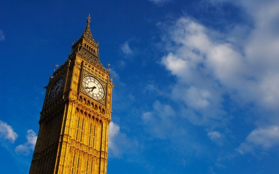Big Ben is actually the bell inside the Houses of Parliament clock tower.