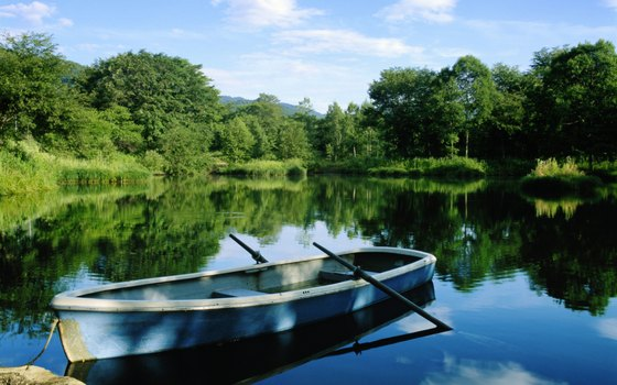Renting a rowboat is one of the best ways to explore the lake.