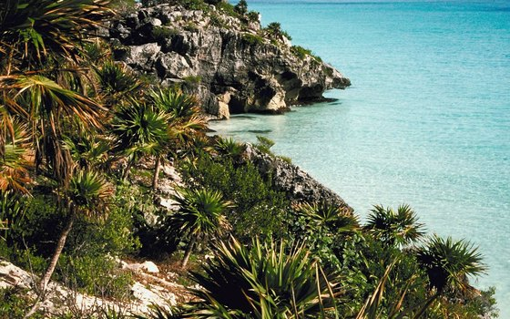 Situated on the cliffs above the Caribbean Sea, Tulum offers breathtaking scenery.