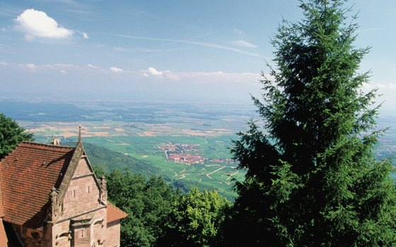 Enjoy the view from Kaysersberg's castle.