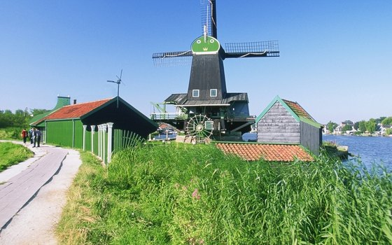 Zaanse Schans' lush countryside is a conservatory of historic buildings.