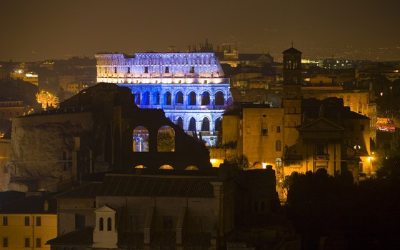 A night visit to Rome's Coloseum can be the highpoint of a trip.