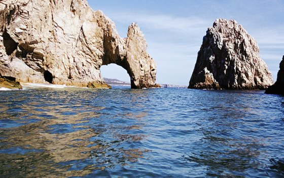 Cabo San Lucas is known for its rock formations and desert surrounds.