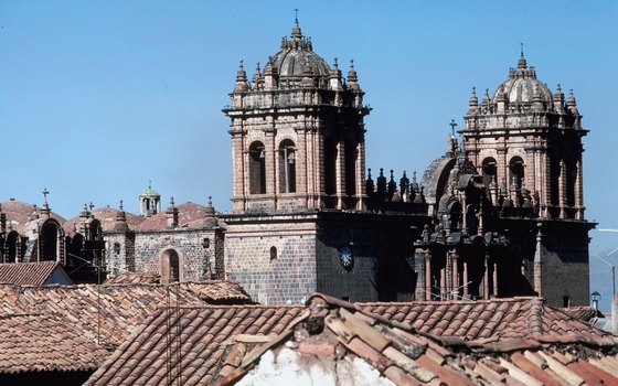 Cusco's rooftop views give you a chance to eye the intricacies of cathedral architecture.