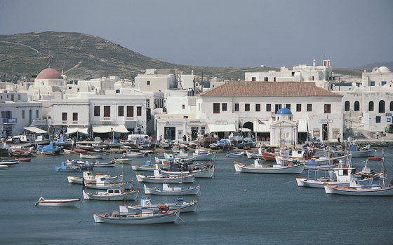 Cruises to Greece port at fishing towns like Mykonos as well as historic landmarks.