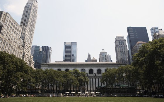 Bryant Park and the New York Public Library's main branch.