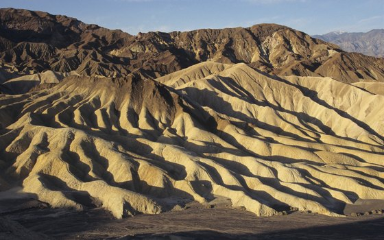 Wild badlands create some of Death Valley's most surreal landscapes.