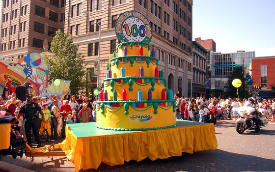 Crayola celebrated its 100th birthday in 2003 with a parade and festivities in Easton, Pennsylvania.