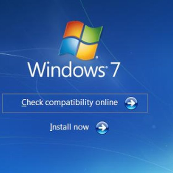 Windows 7 upgrade splash screen