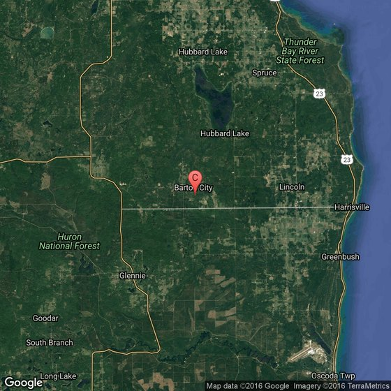 Campgrounds Usa Map.A List Of Campgrounds In Alcona Michigan Getaway Usa