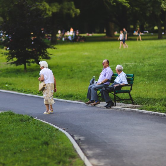 Elderly people in the park.