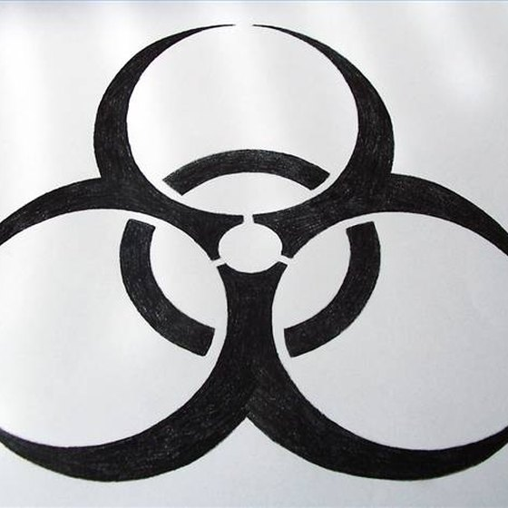Draw the Biohazard Sign