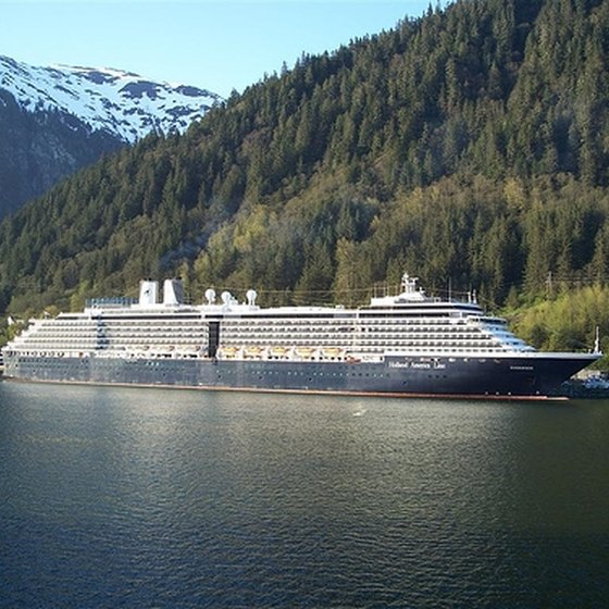 A Holland America Ship Docked at Juneau
