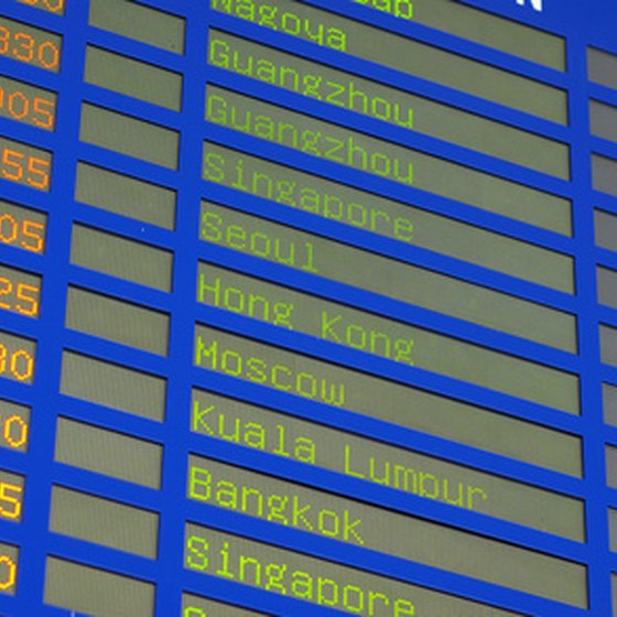 Flight information can change, so always check the airport displays.