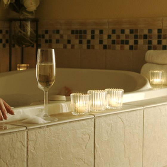 Hot tubs are common features in New Jersey motels for couples