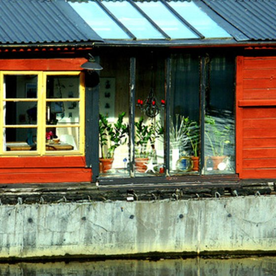 Houseboats can be used as residences or for vacations.