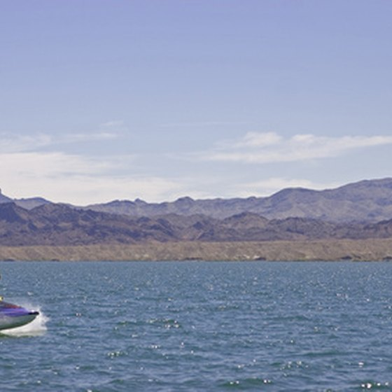 Personal watercraft on the Colorado River south of Laughlin