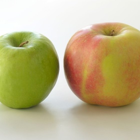 Apples are good sources of sorbitol, a type of sugar alcohol.