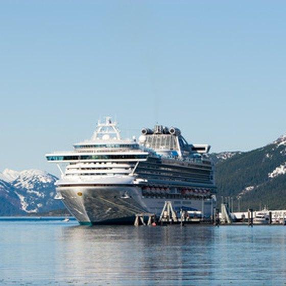 Alaskan cruise ports include Juneau, Seward and Anchorage.