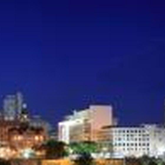 Downtown Dallas, Texas skyline at night