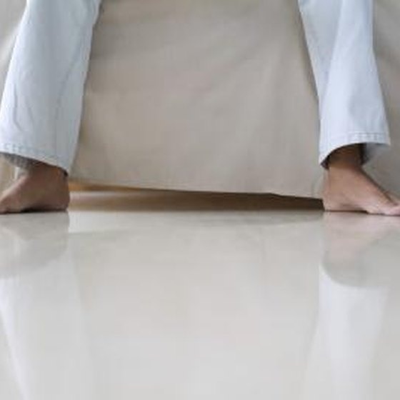 Bare feet on floor.