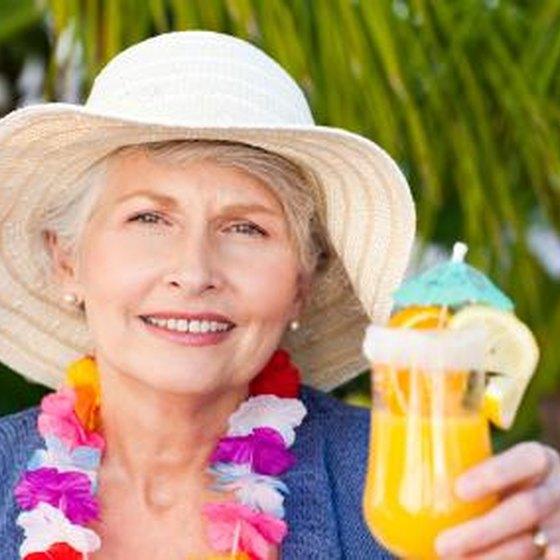 older woman in tropics