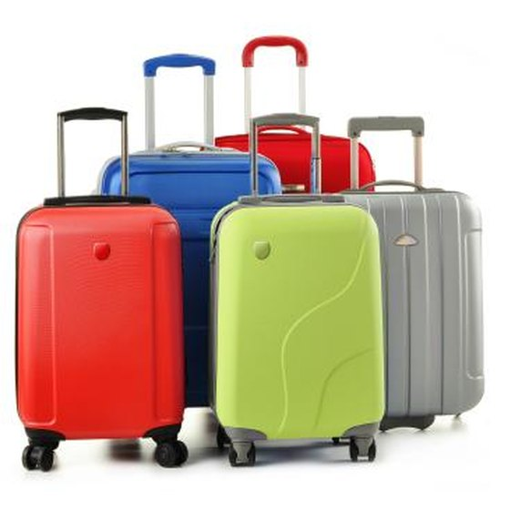 Luggage with retractable handles.