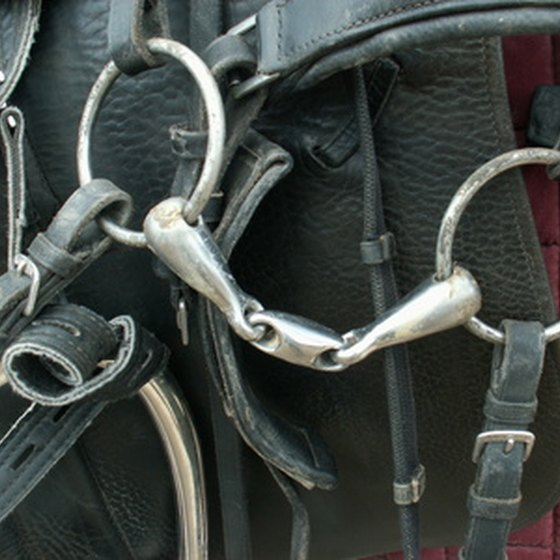 The snaffle bit has a joint in the middle.