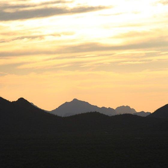 Sky Islands at sunset