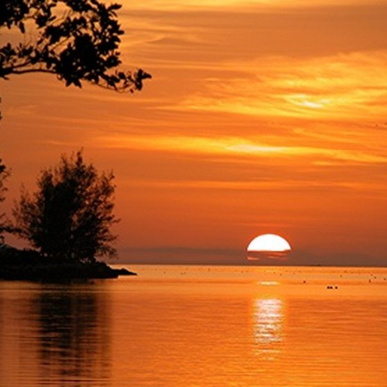 Sunsets in Key West are celebrated with a party in town every evening.