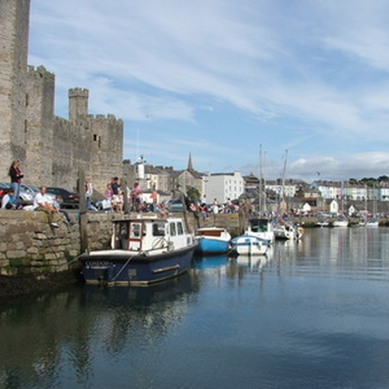 Many travelers in the British Isles stop in Caernarvon, Wales, to tour the city and its castle.