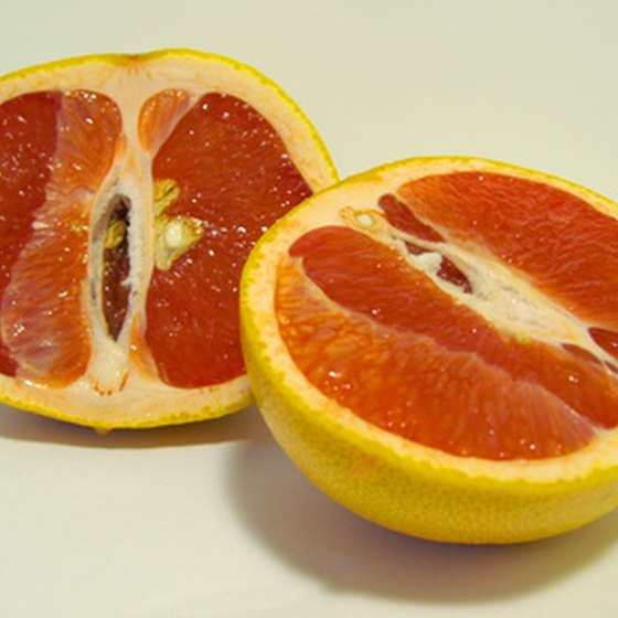 Grapefruit consists of 90 percent water and very few calories.