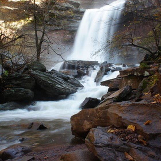 Kaaterskill Falls in the Catskill Mountains.