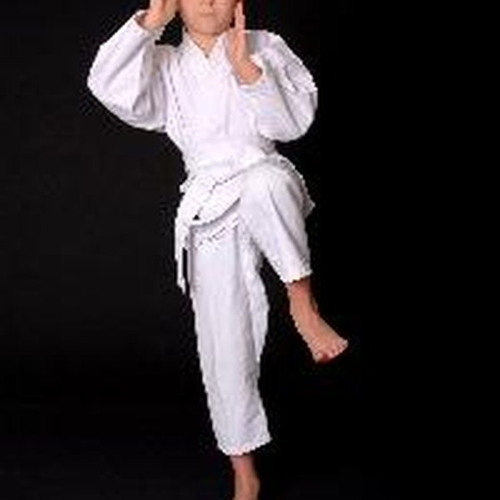The hip flexors lift the thigh when performing a front kick in martial arts.