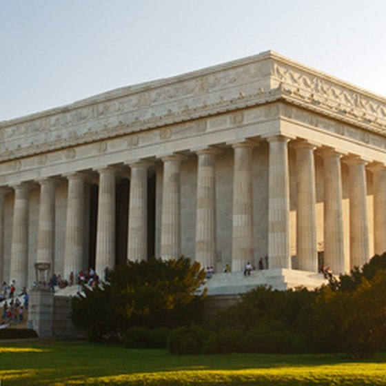 The Lincoln Memorial is the most-visited monument in Washington.