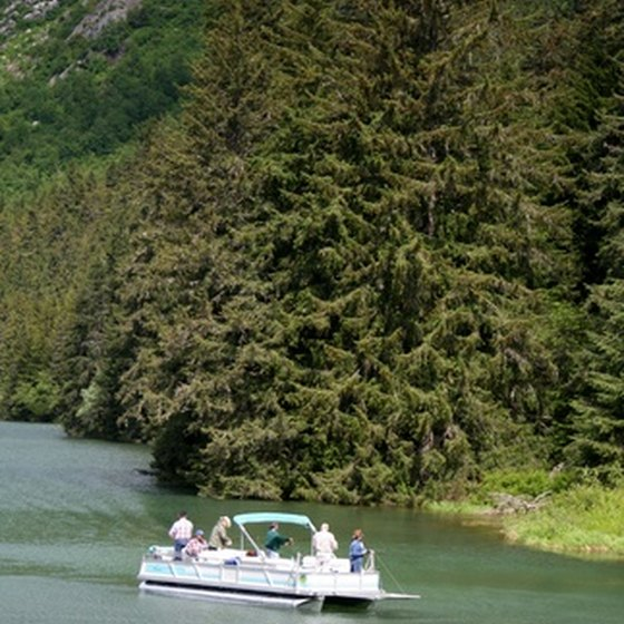 Baker Lake offers trout and salmon fishing.