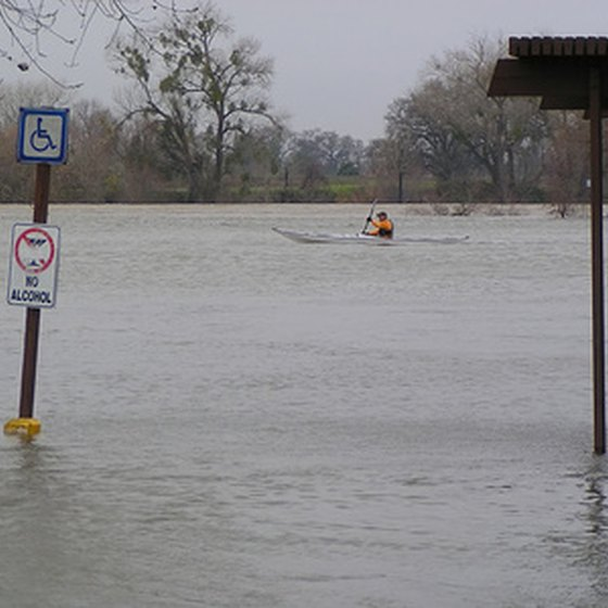 Some regional floods result in high water levels that make roads unpassable.