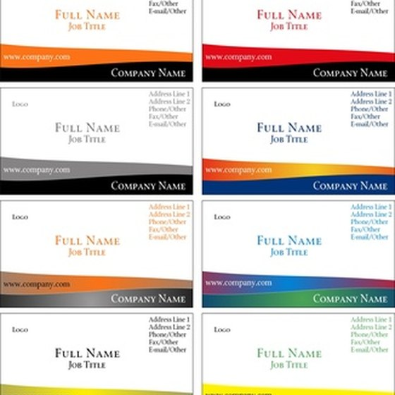 A dash of color can help your business card stand out.