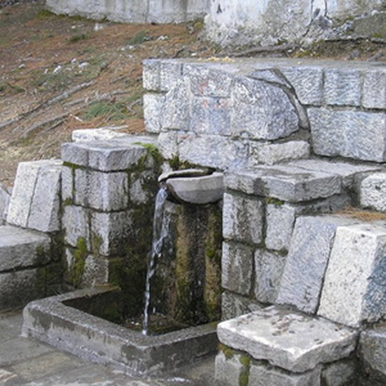 Natural spring water needs to be purified so it's safe to drink.