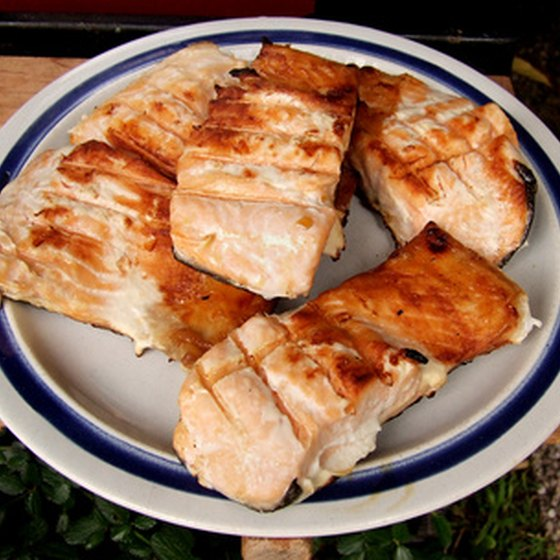 Grilled fish provides a quick and near zero-carb meal.