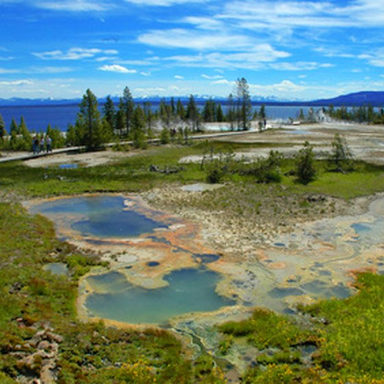 Visitors of all ages apprecaite the natural beauty of Yellowstone National Park.
