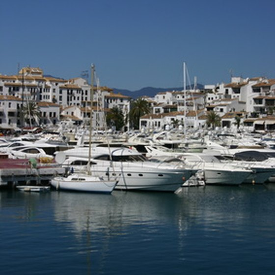 Boats moored in one of Spain's many beautiful harbors