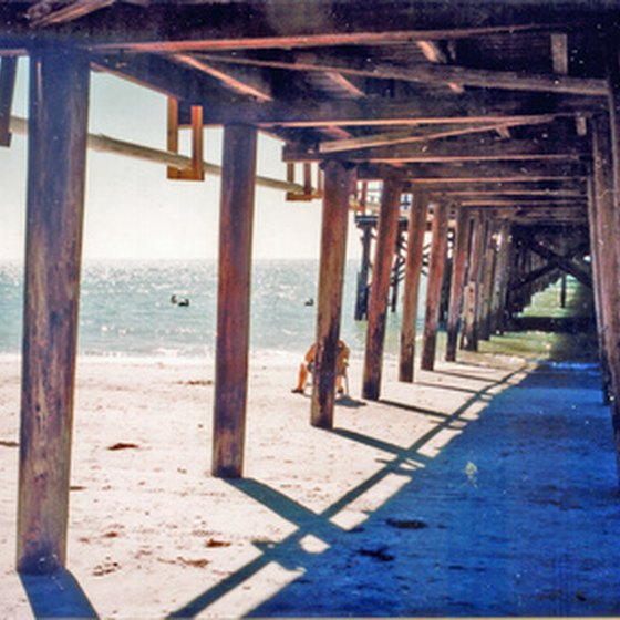 Several beaches near Orlando feature piers used for dining and entertainment.