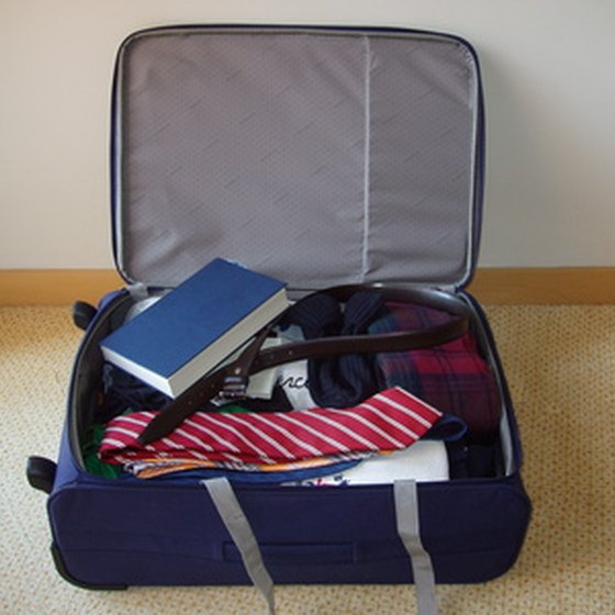 Carry-on luggage items must adhere to TSA rules.