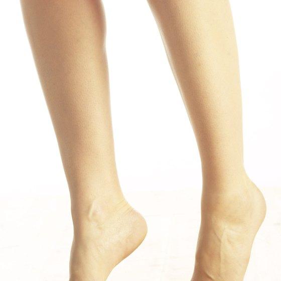 Walk on your tiptoes to strengthen your calves.